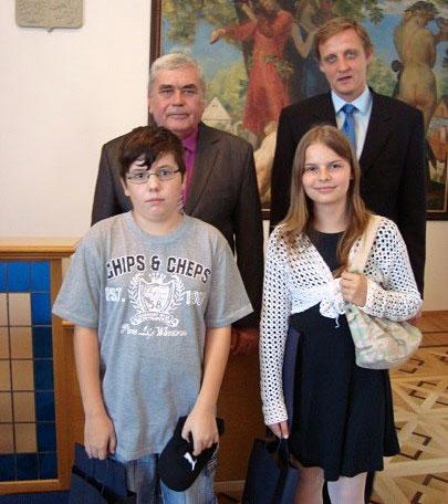 Ocenění u starosty 2012